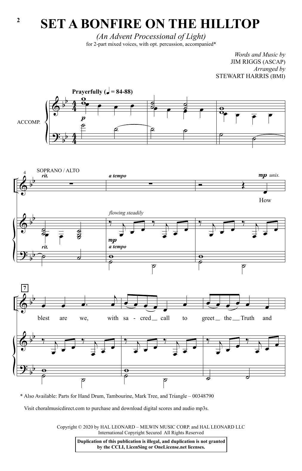 Set A Bonfire On The Hilltop (An Advent Processional Of Light) (arr. Stewart Harris) Sheet Music