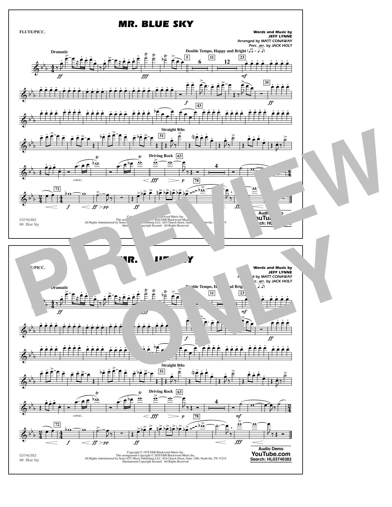 Mr. Blue Sky (arr. Matt Conaway) - Flute/Piccolo Sheet Music