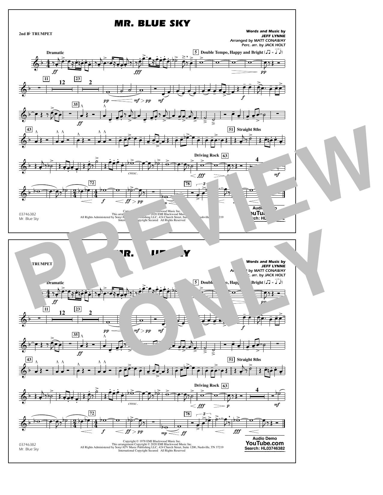 Mr. Blue Sky (arr. Matt Conaway) - 2nd Bb Trumpet Sheet Music