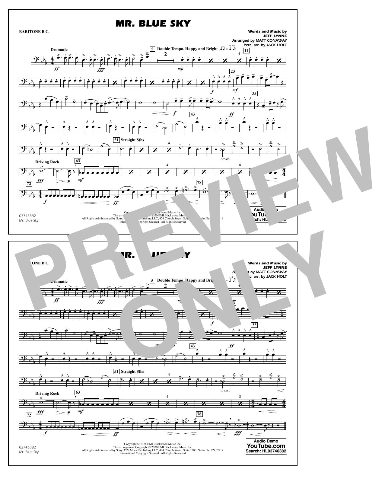 Mr. Blue Sky (arr. Matt Conaway) - Baritone B.C. Sheet Music