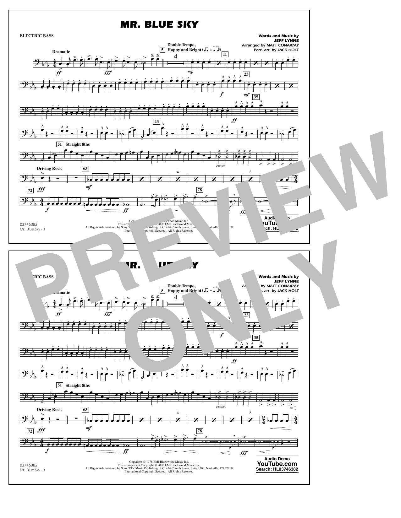 Mr. Blue Sky (arr. Matt Conaway) - Electric Bass Sheet Music