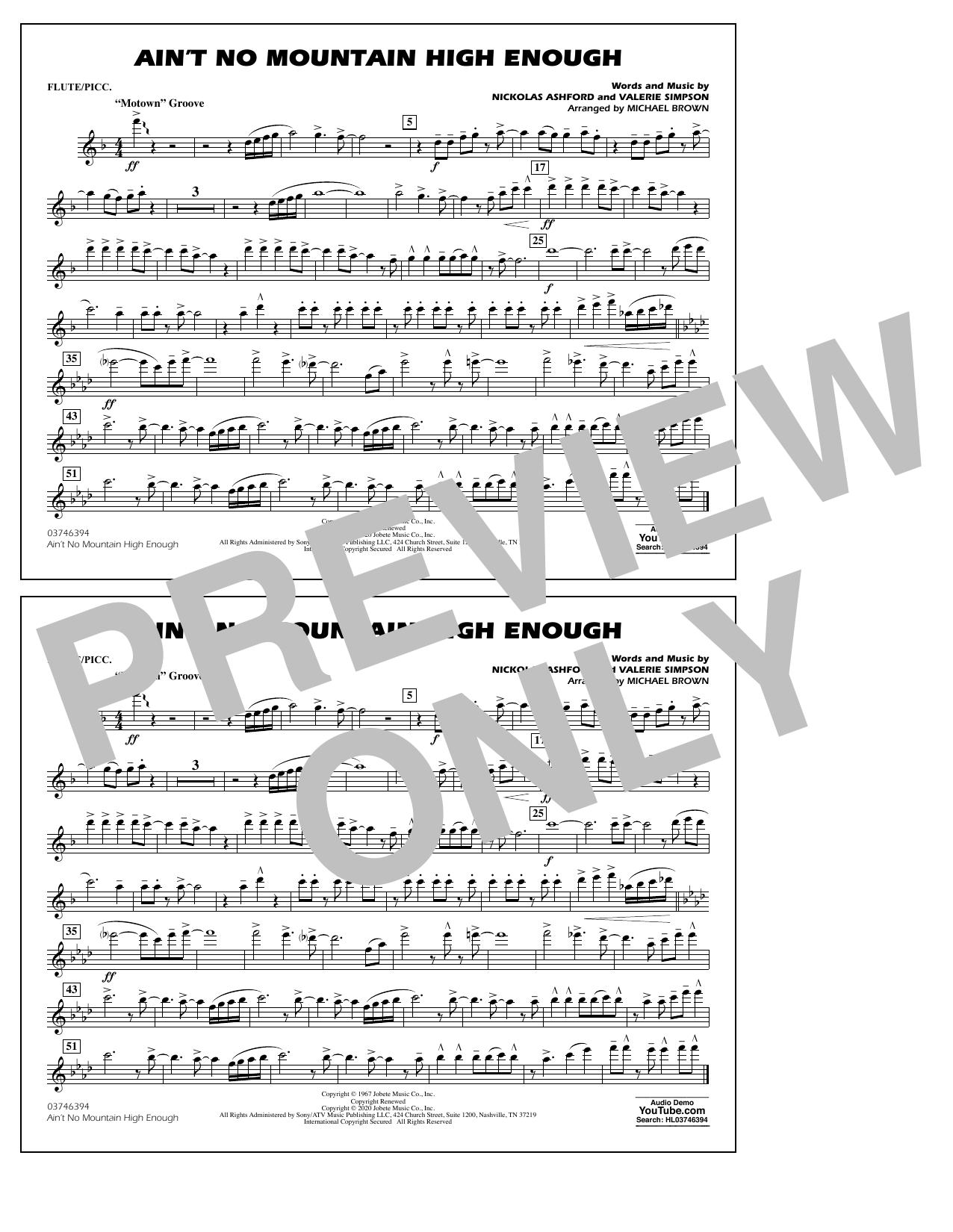 Ain't No Mountain High Enough (arr. Michael Brown) - Flute/Piccolo Sheet Music