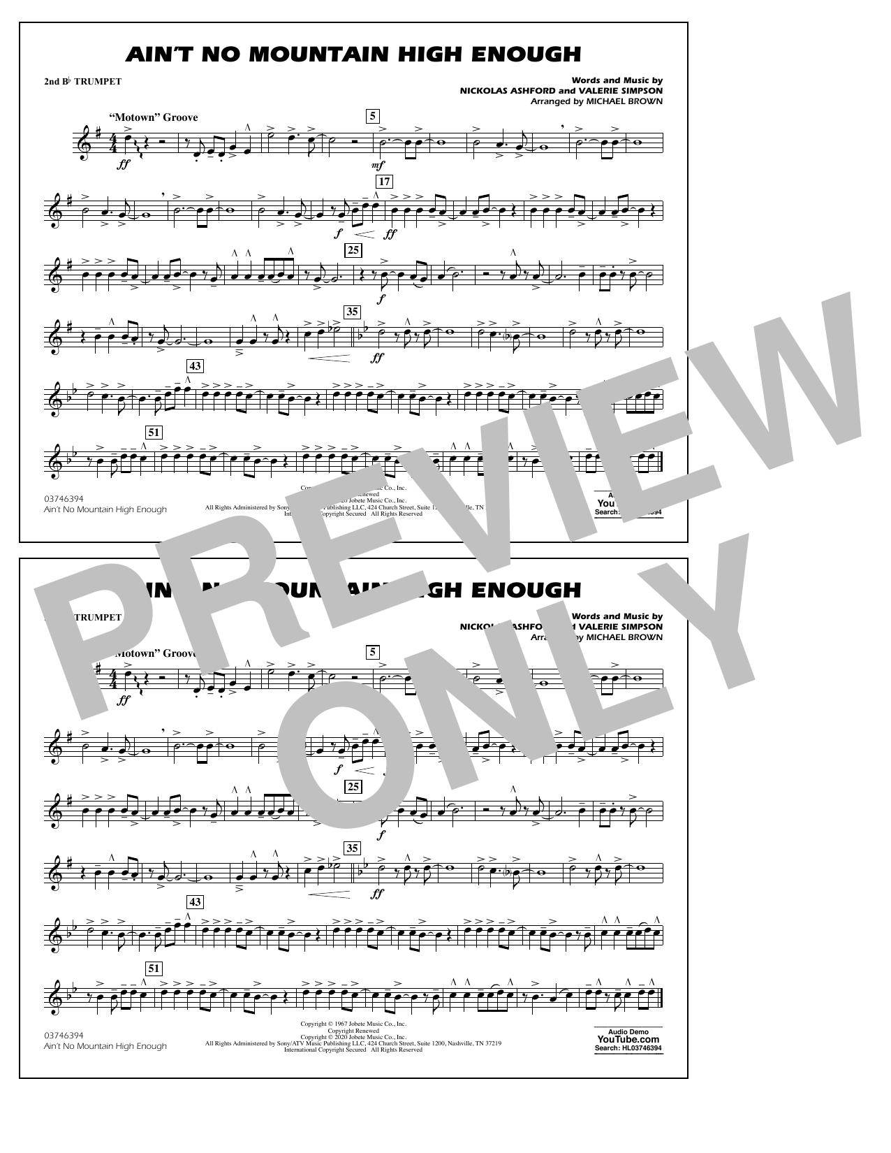 Ain't No Mountain High Enough (arr. Michael Brown) - 2nd Bb Trumpet Sheet Music