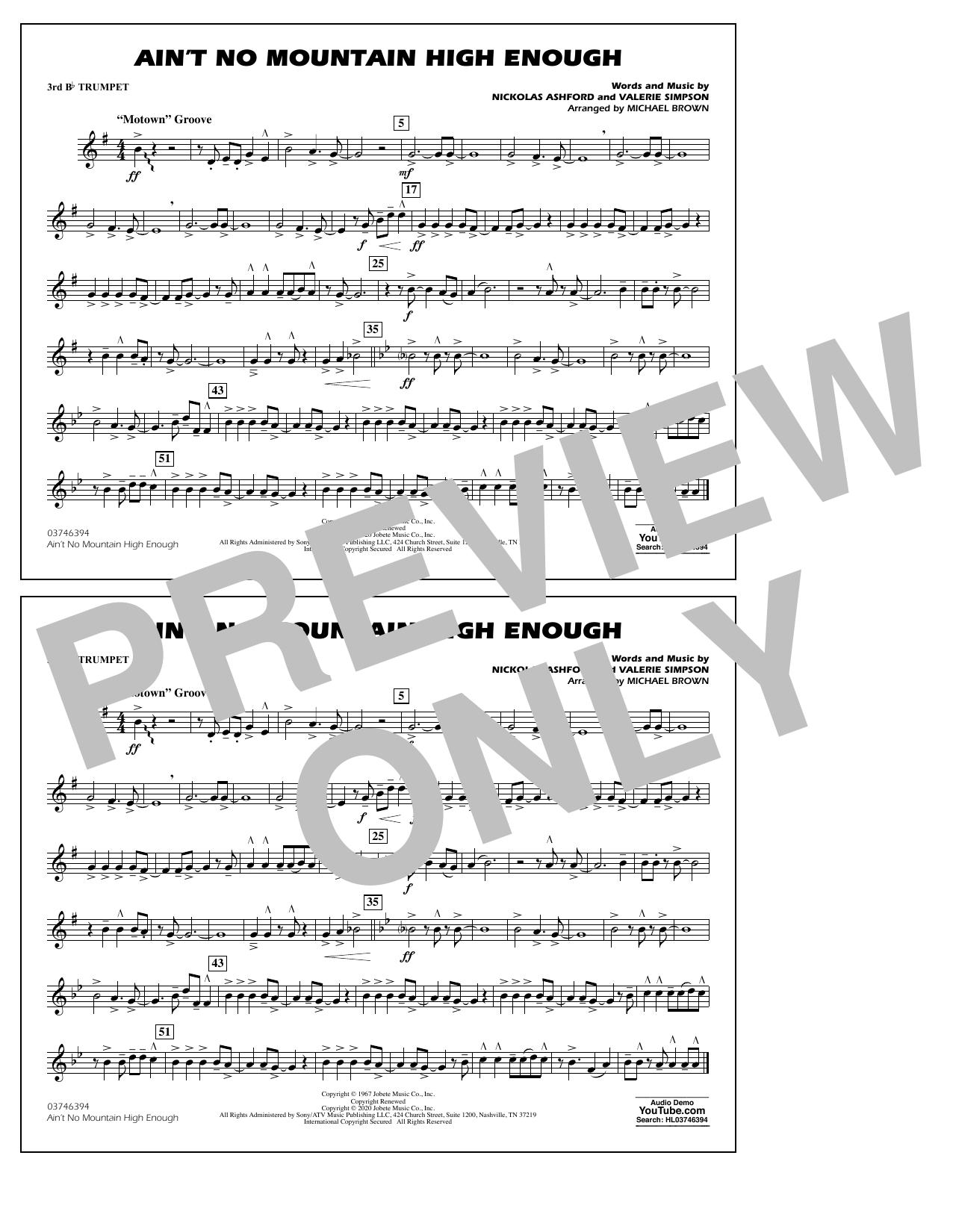 Ain't No Mountain High Enough (arr. Michael Brown) - 3rd Bb Trumpet Sheet Music
