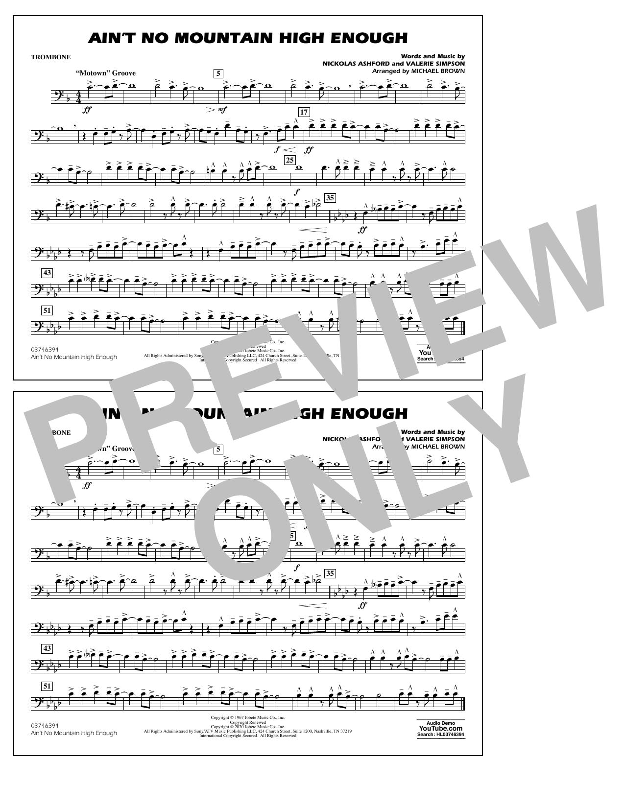 Ain't No Mountain High Enough (arr. Michael Brown) - Trombone Sheet Music