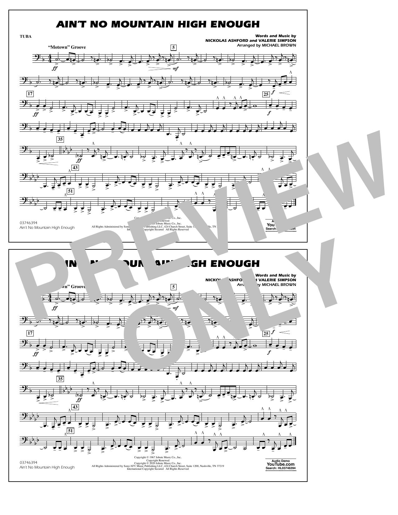 Ain't No Mountain High Enough (arr. Michael Brown) - Tuba Sheet Music