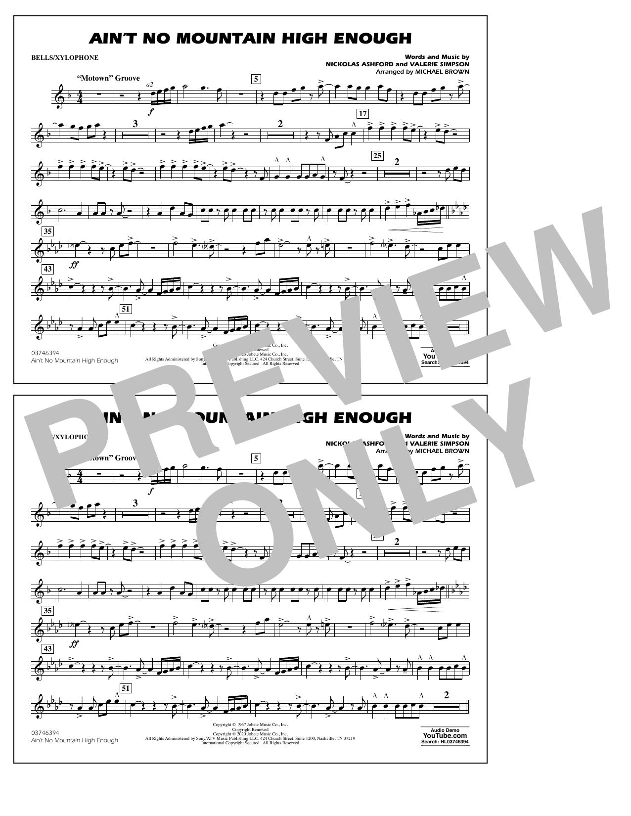 Ain't No Mountain High Enough (arr. Michael Brown) - Bells/Xylophone Sheet Music