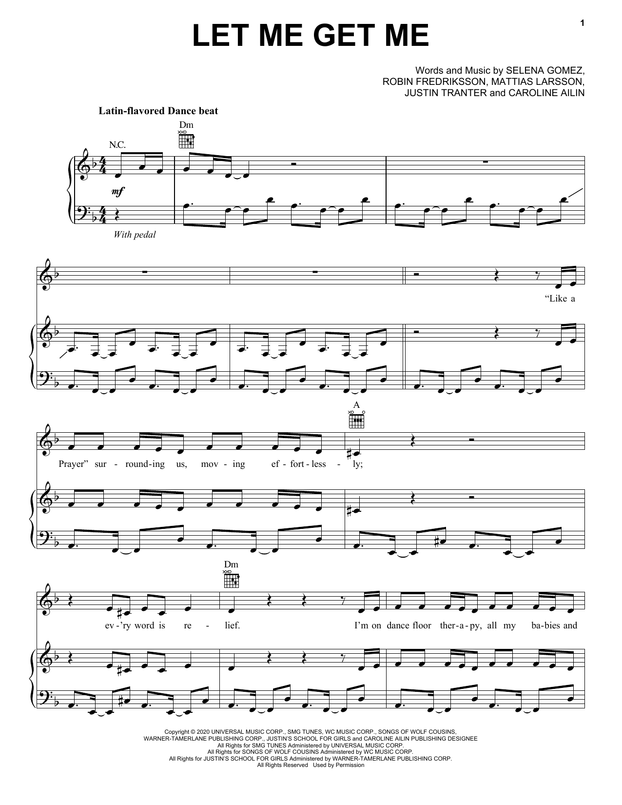 Let Me Get Me (Piano, Vocal & Guitar (Right-Hand Melody))