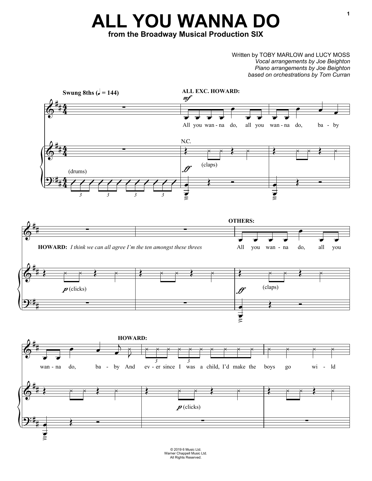 All You Wanna Do (from Six: The Musical) Sheet Music