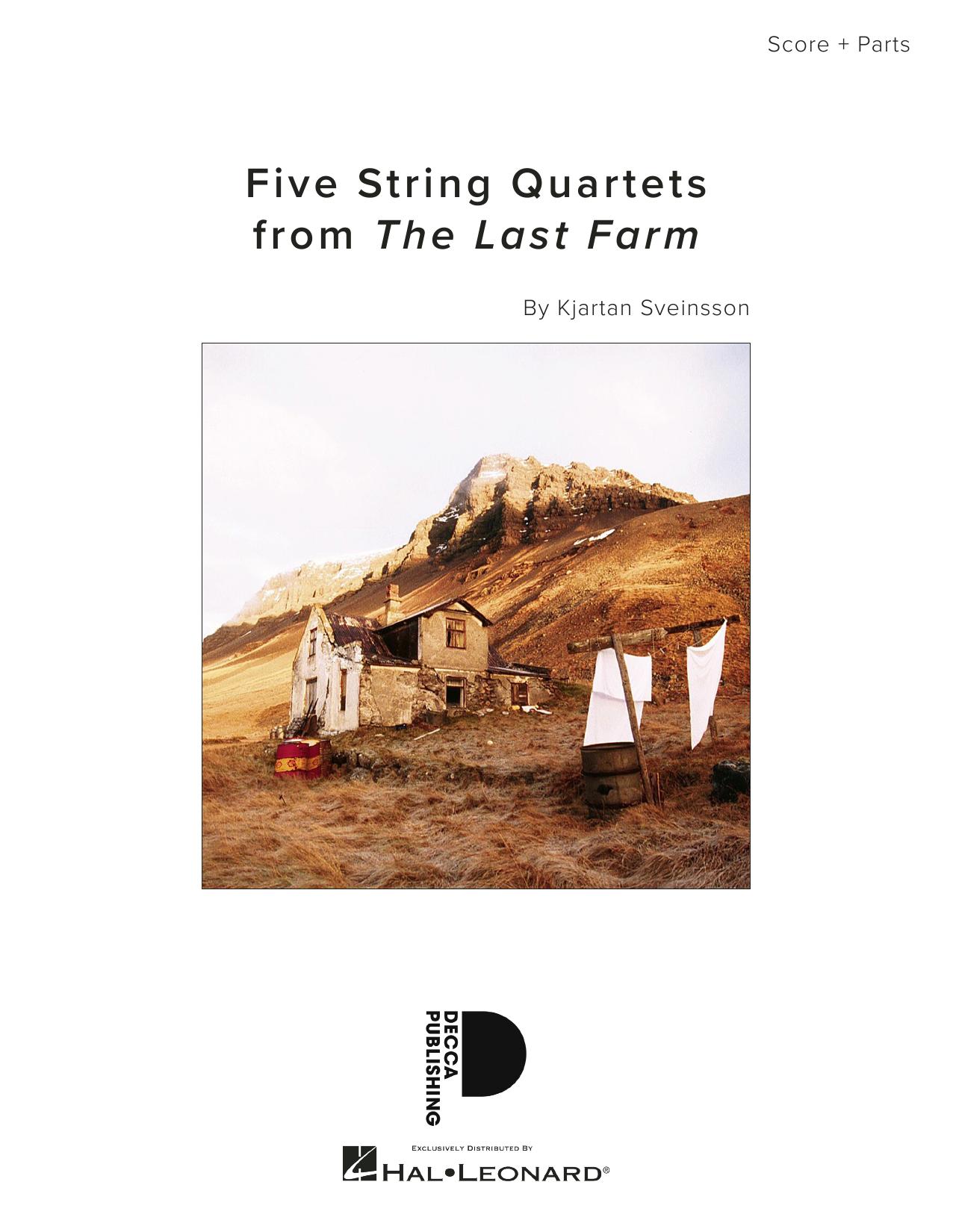 Five String Quartets from The Last Farm - Full Score Sheet Music