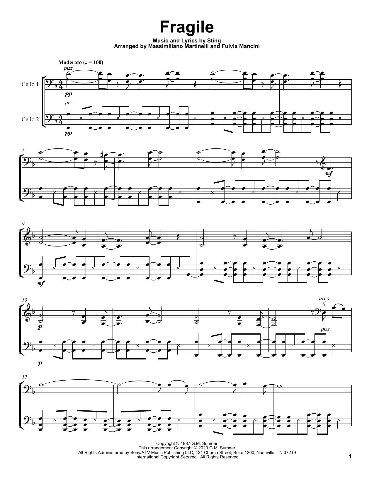 Fragile (Cello Duet)