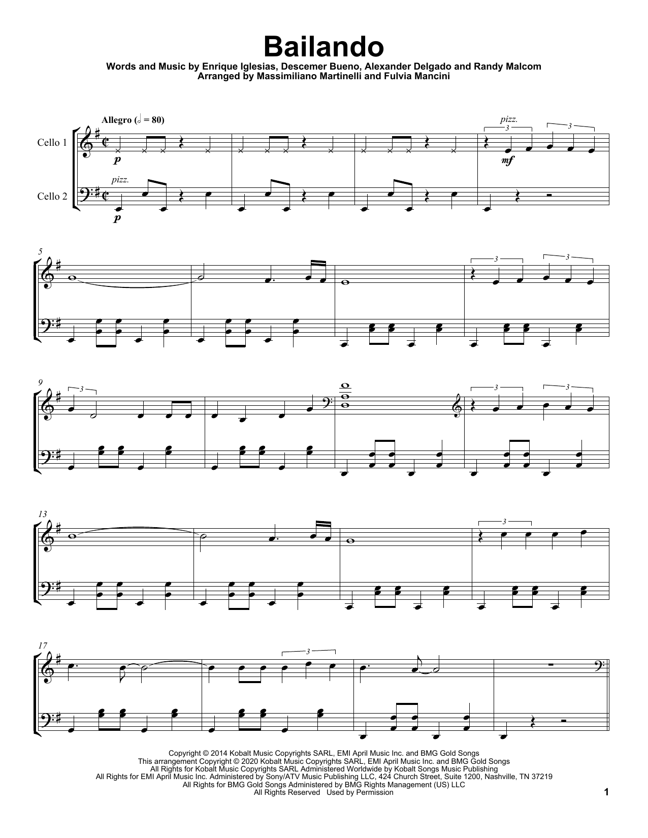 Bailando (Cello Duet)
