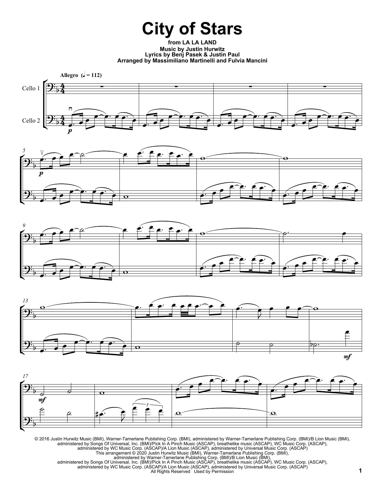 City Of Stars (from La La Land) (Cello Duet)
