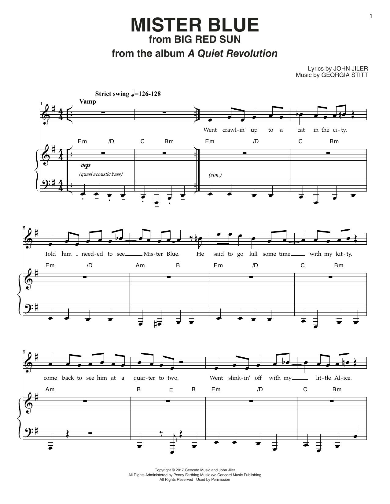 Mister Blue Sheet Music