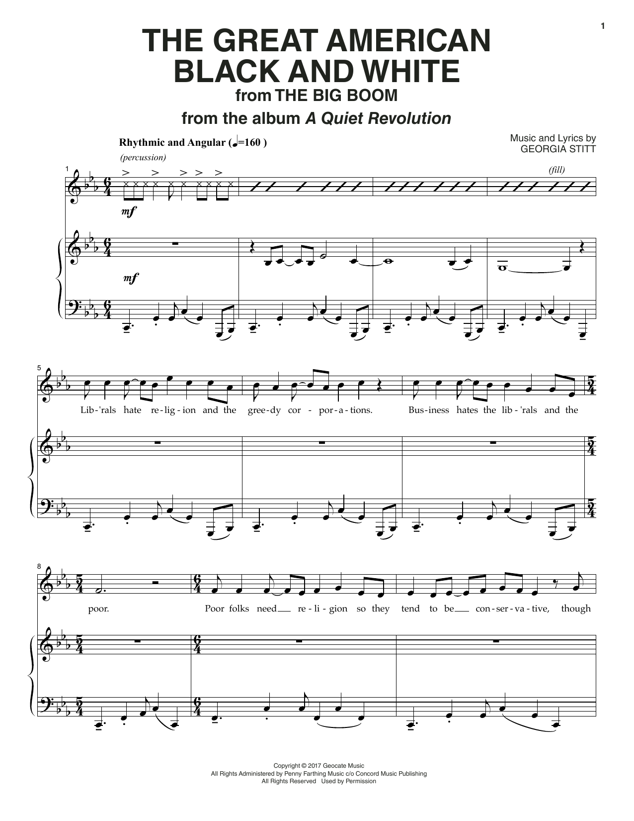 The Great American Black And White Sheet Music