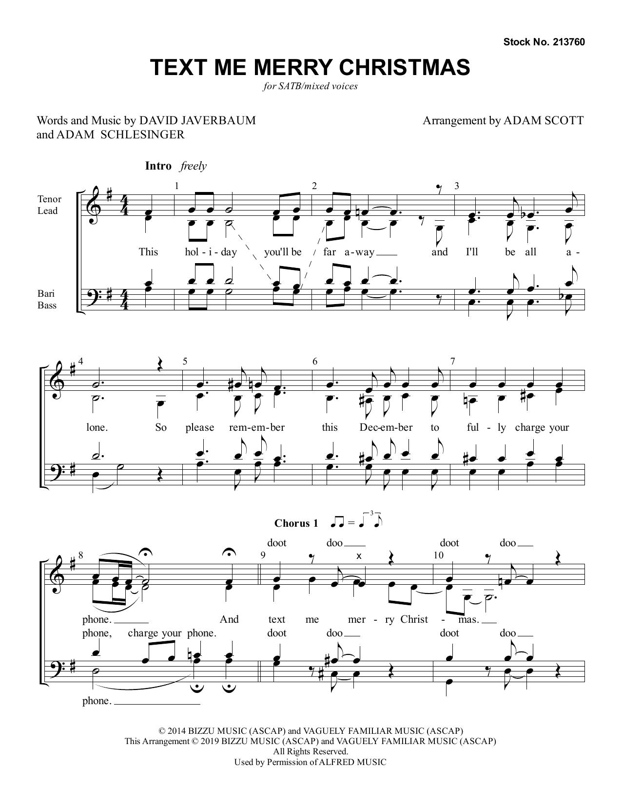 Text Me Merry Christmas (arr. Adam Scott) Sheet Music