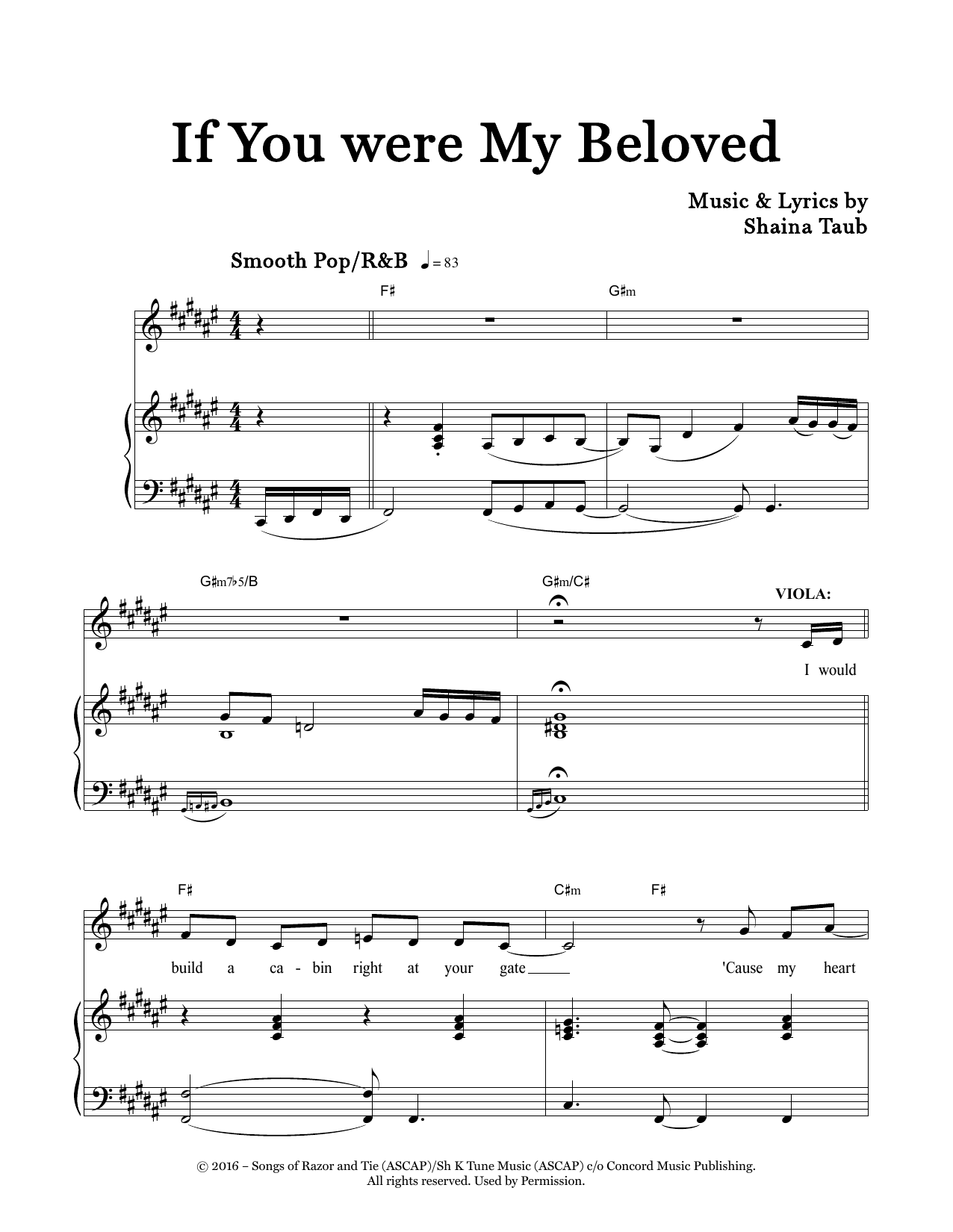 If You Were My Beloved (from Twelfth Night) Sheet Music