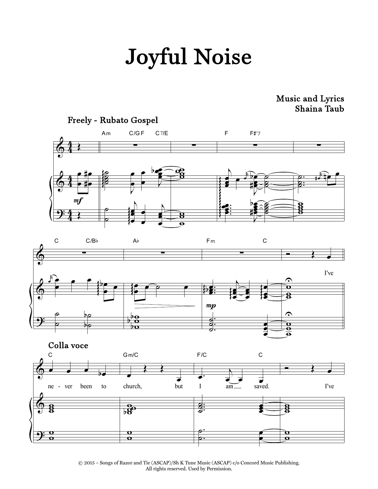 Joyful Noise Sheet Music