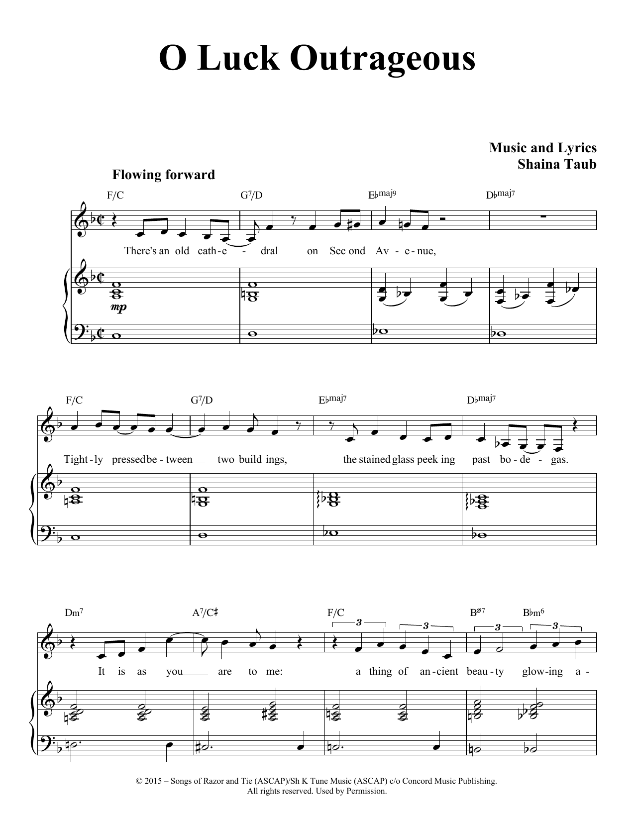O Luck Outrageous (Piano & Vocal)
