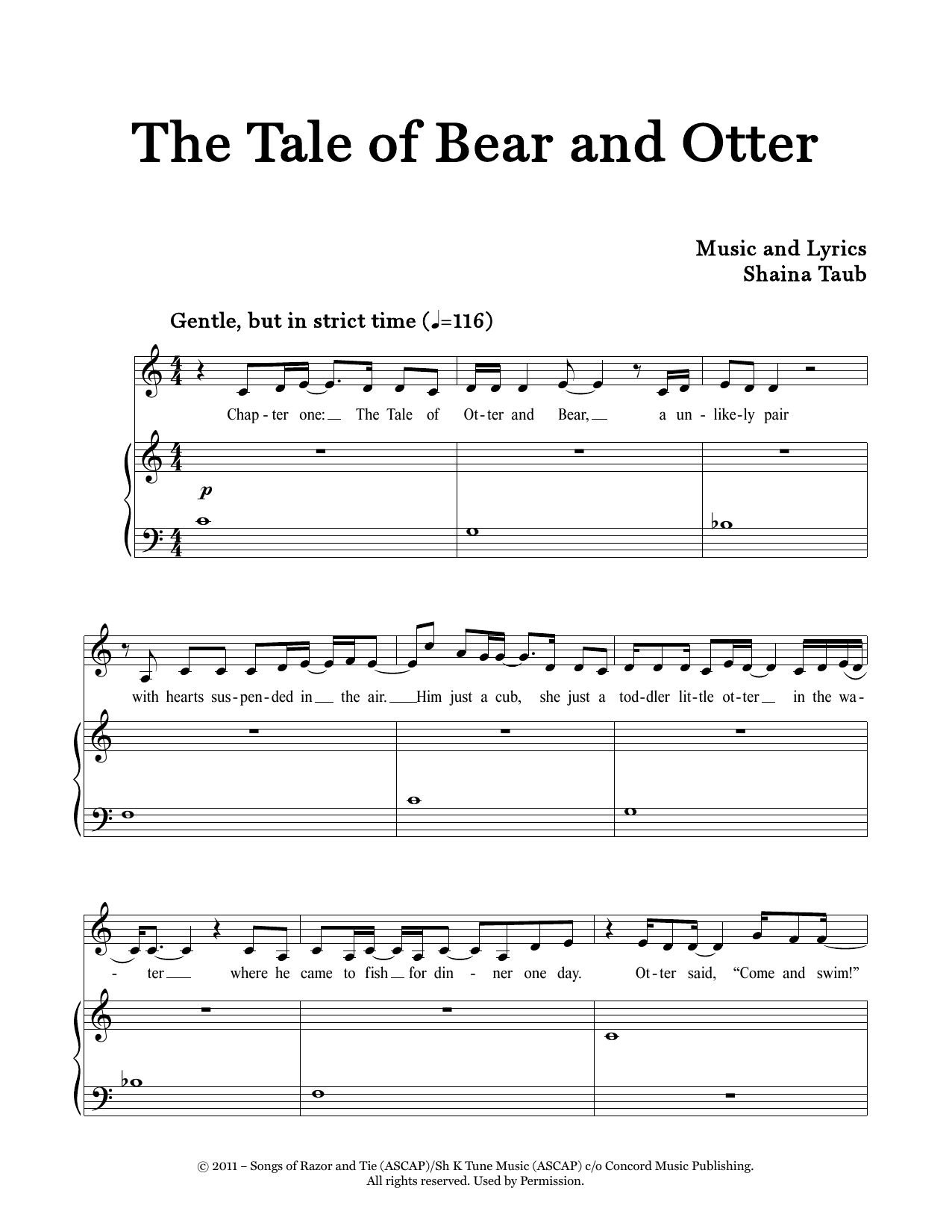 The Tale Of Bear And Otter Sheet Music