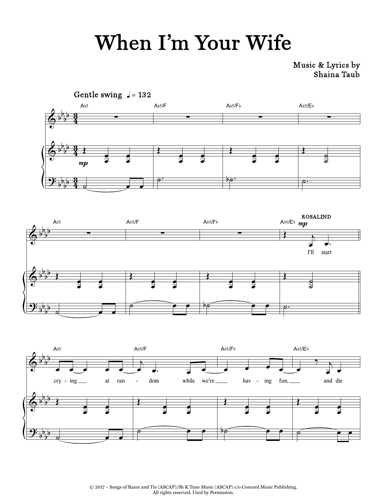 When I'm Your Wife (from As You Like It) Digitale Noten