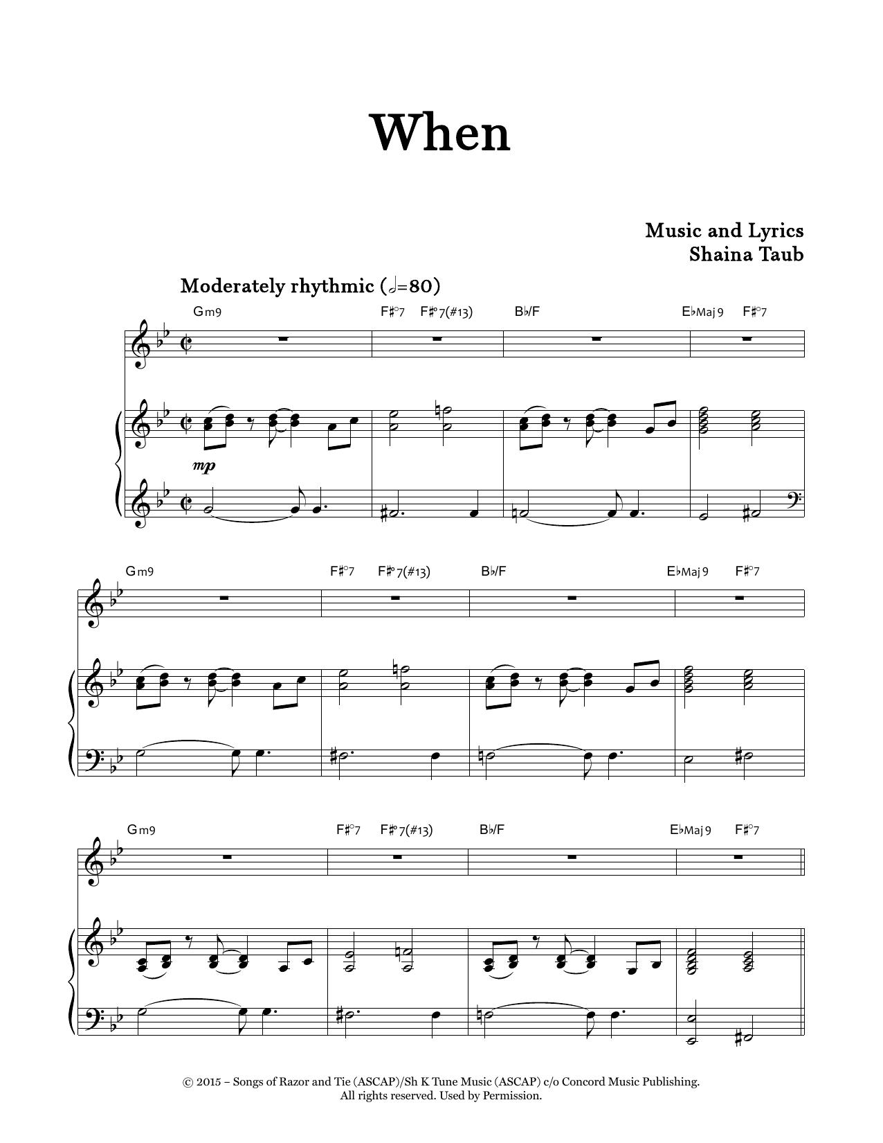 When Sheet Music
