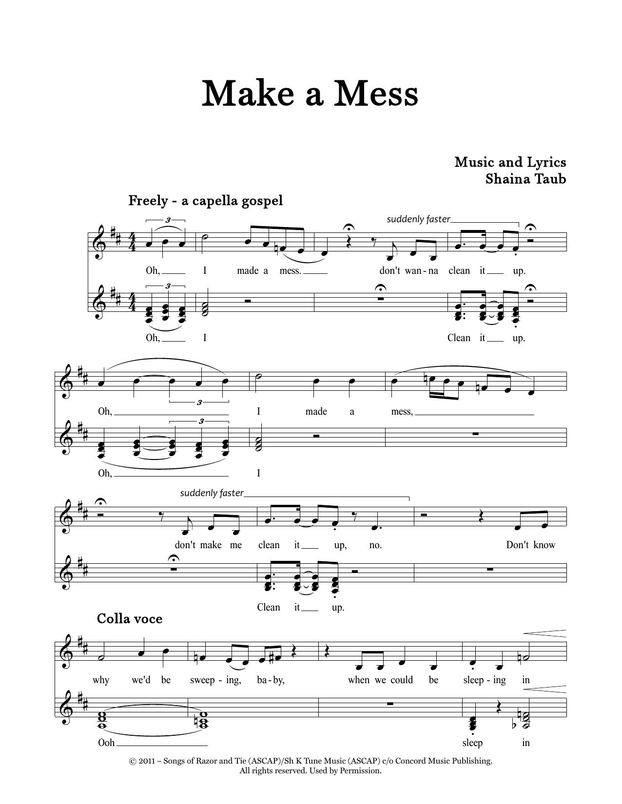 Make A Mess Sheet Music