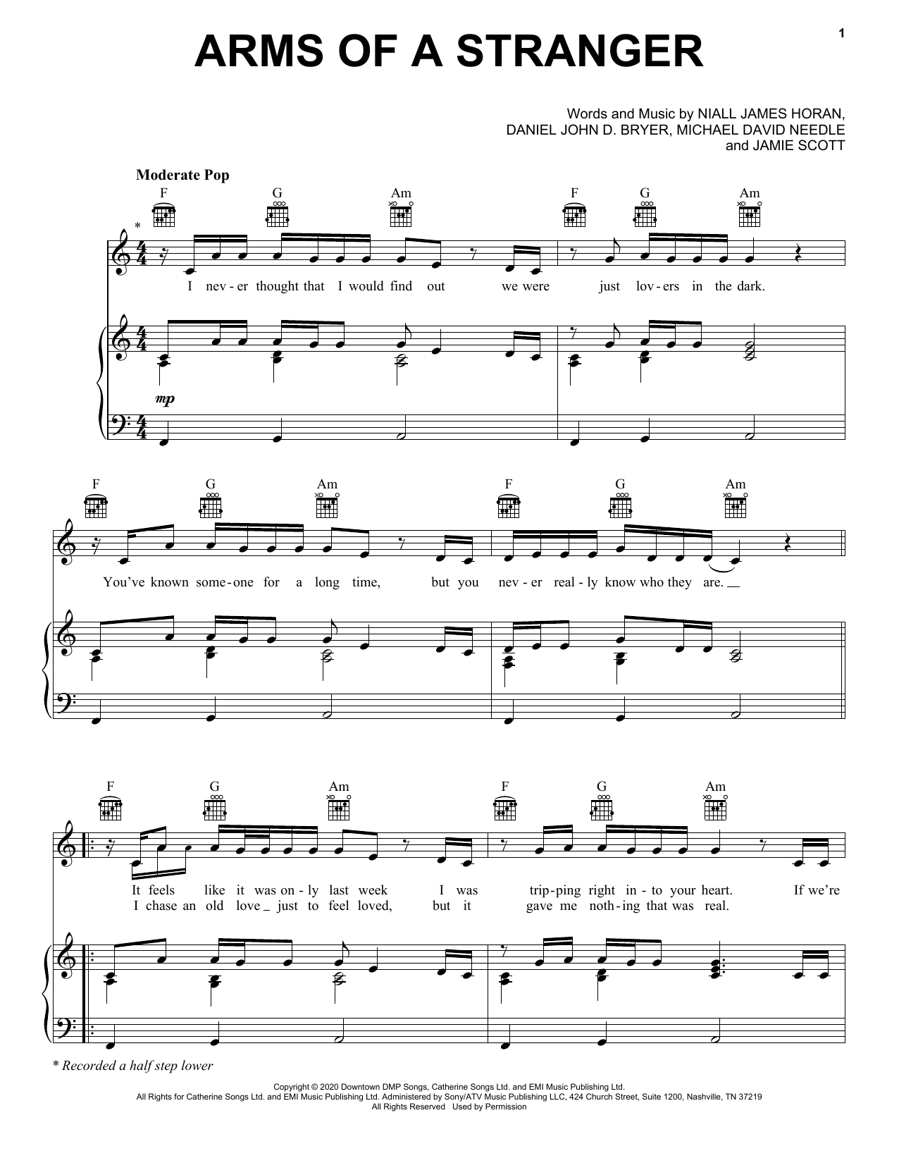 Arms Of A Stranger (Piano, Vocal & Guitar (Right-Hand Melody))