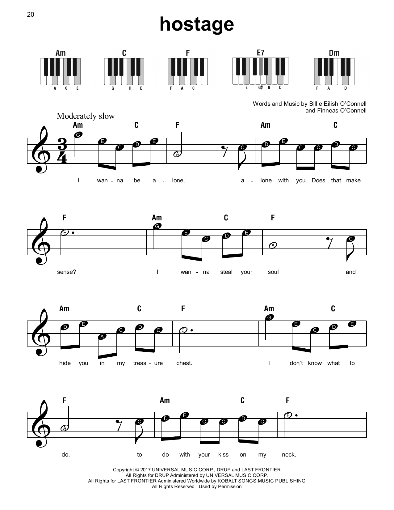 hostage (Super Easy Piano)