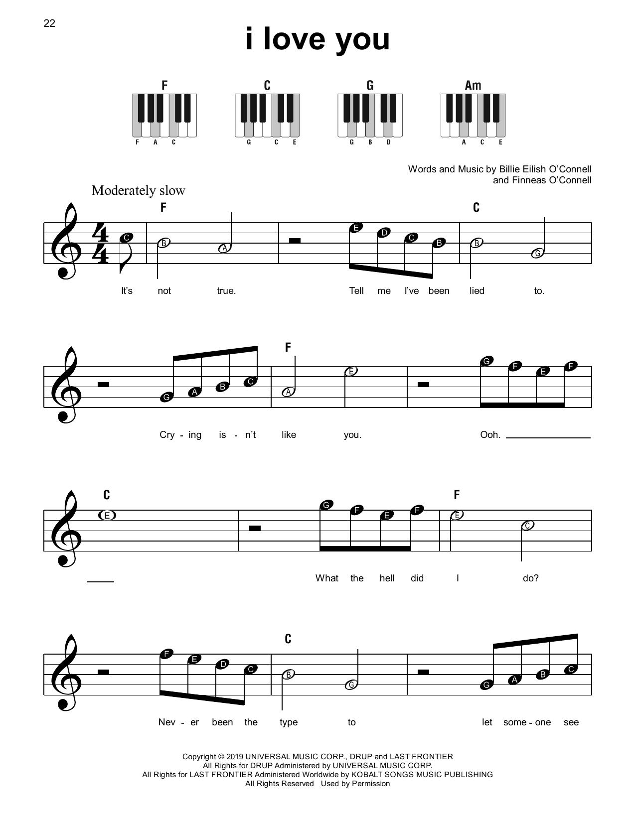 i love you (Super Easy Piano)