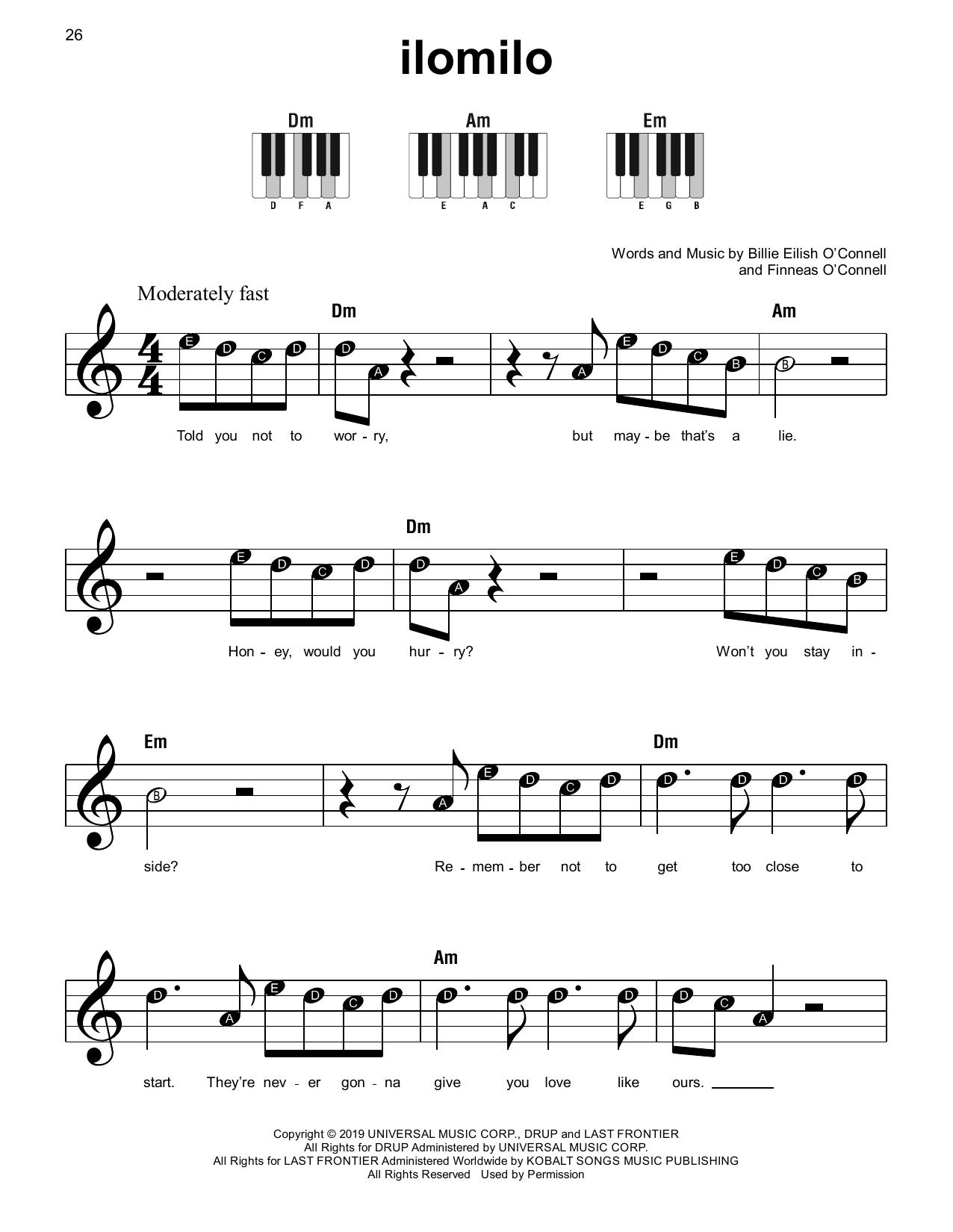 ilomilo (Super Easy Piano)
