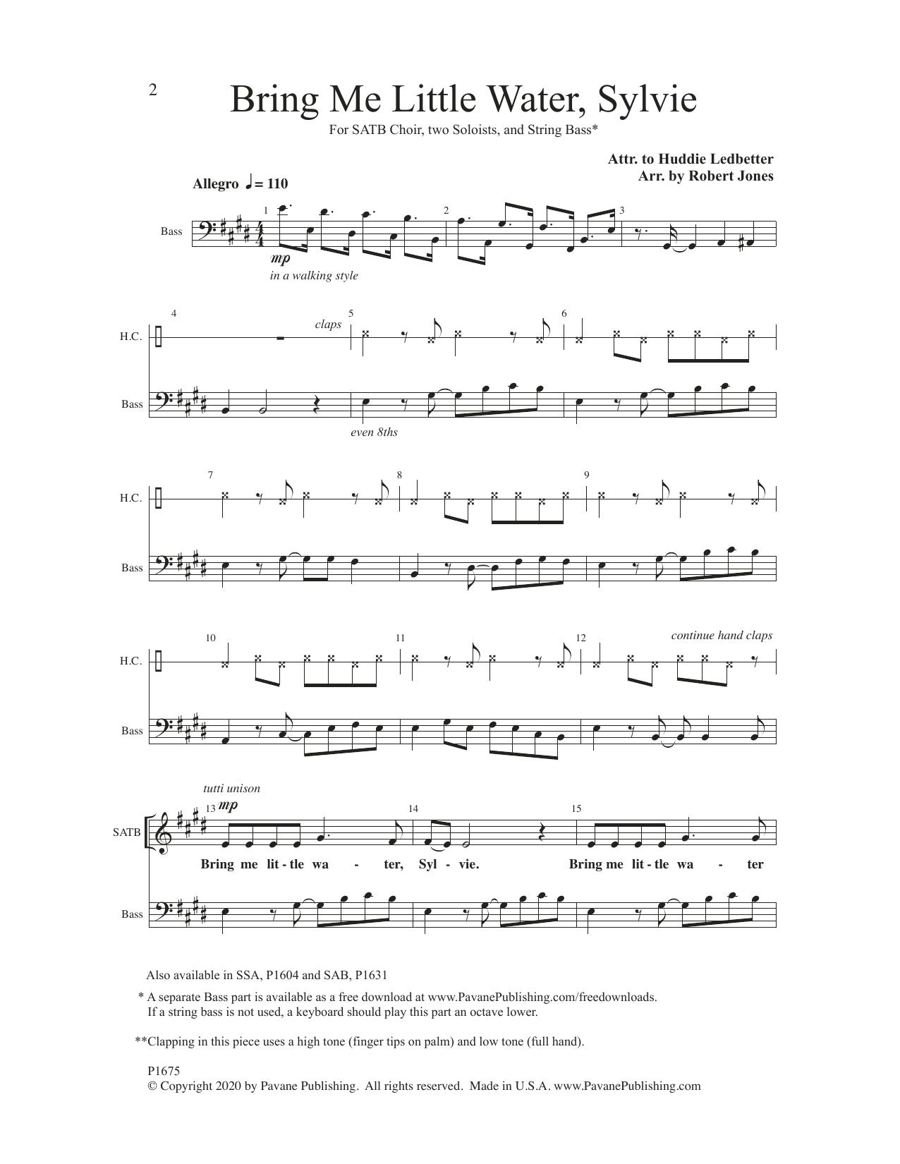Bring Me little Water, Sylvie Sheet Music