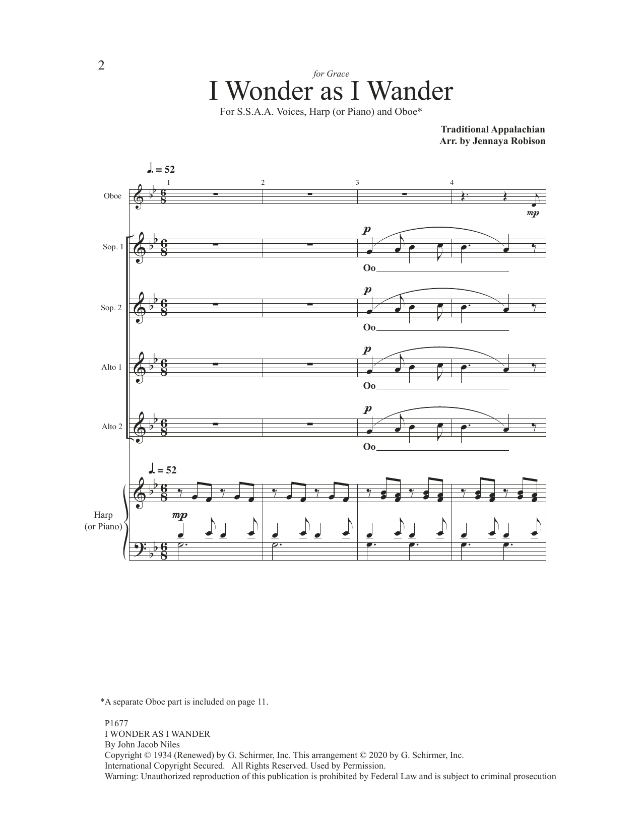 I Wonder As I Wander (SSAA Choir)