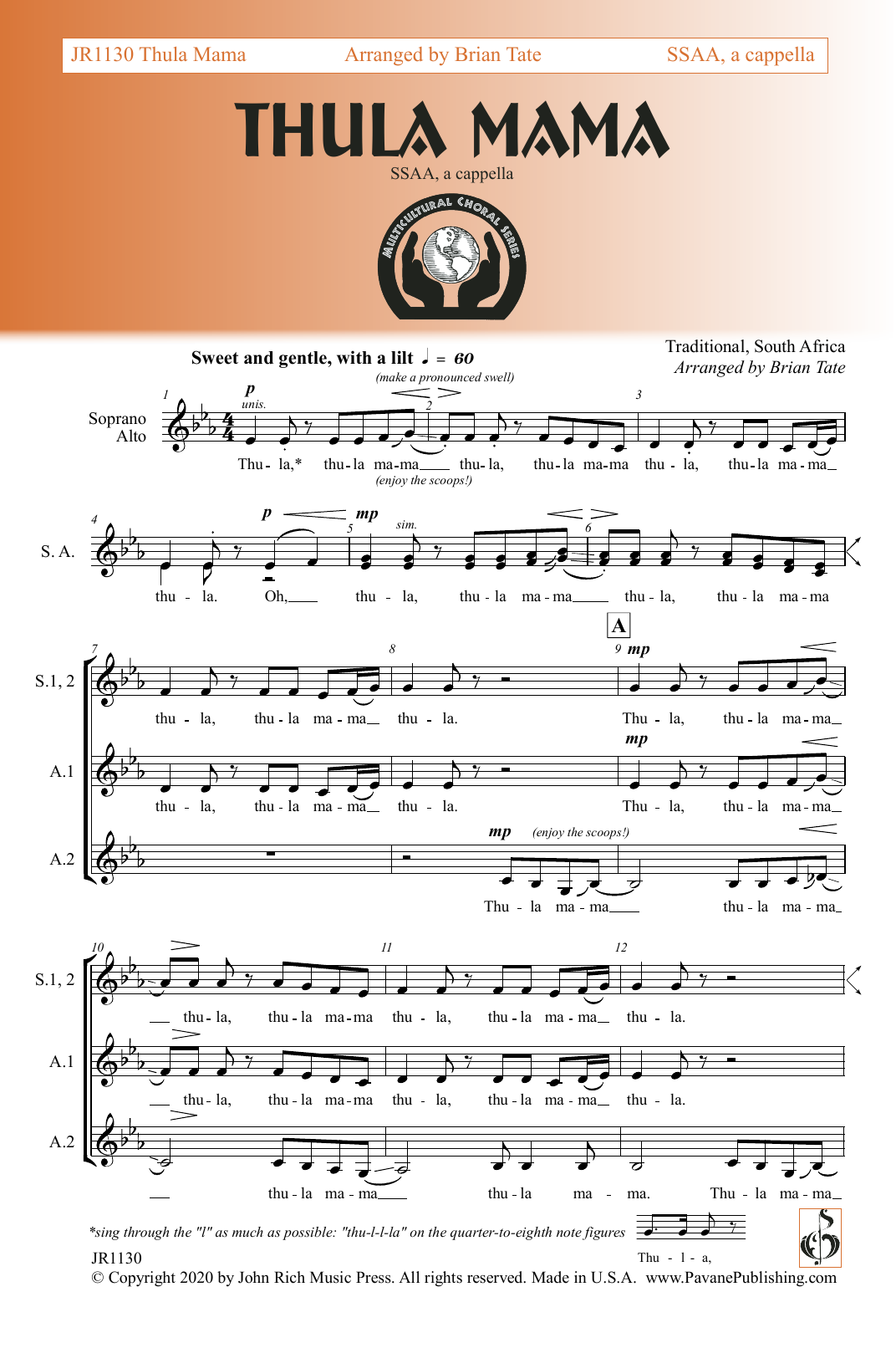 Thula Mama Sheet Music