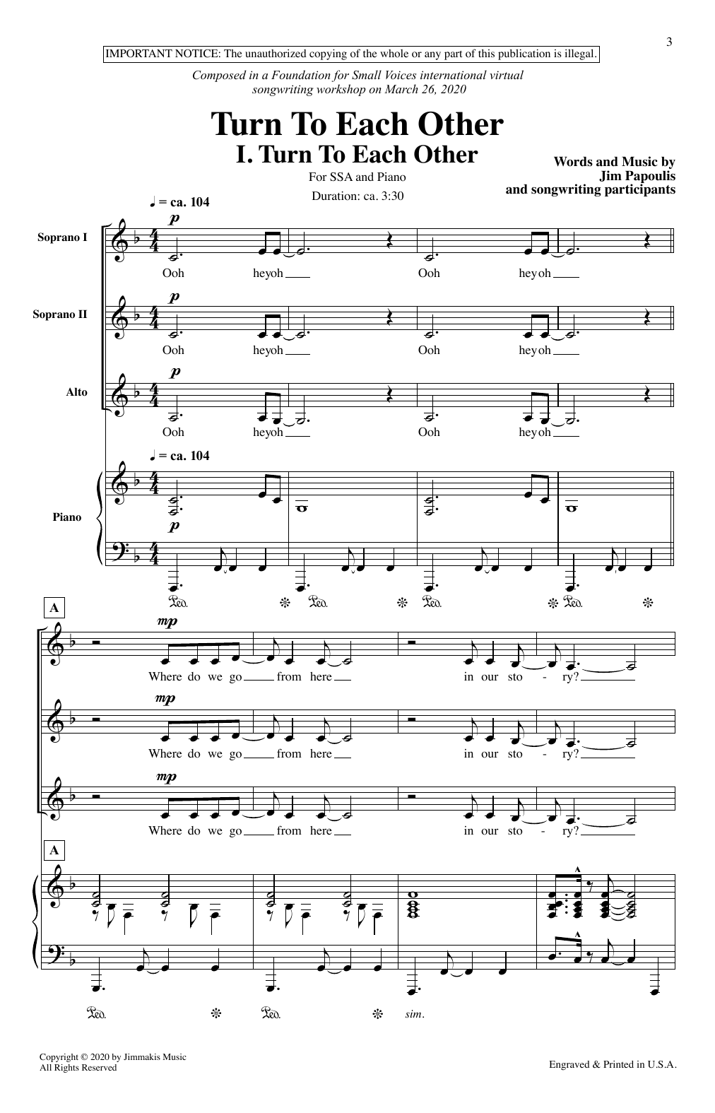 Turn To Each Other (SSA Choir)
