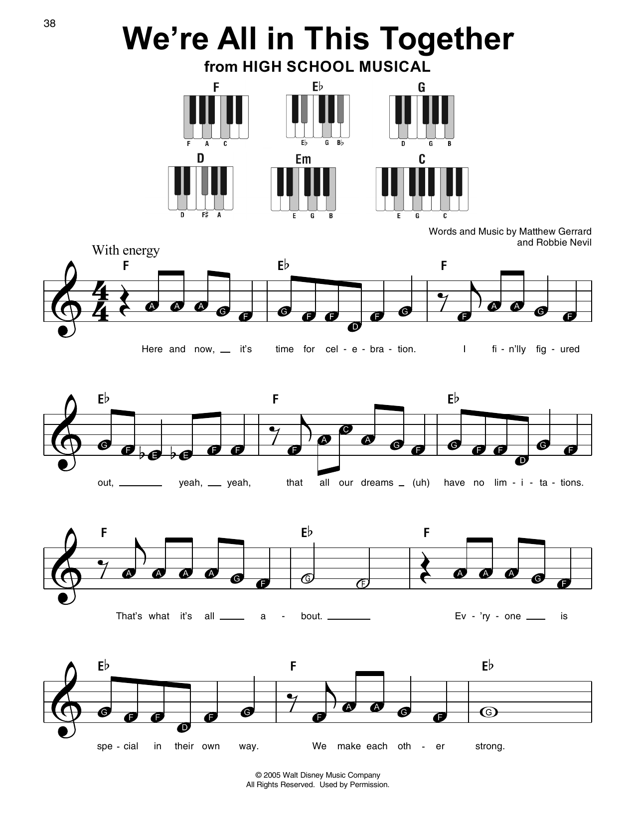 We're All In This Together (Super Easy Piano)