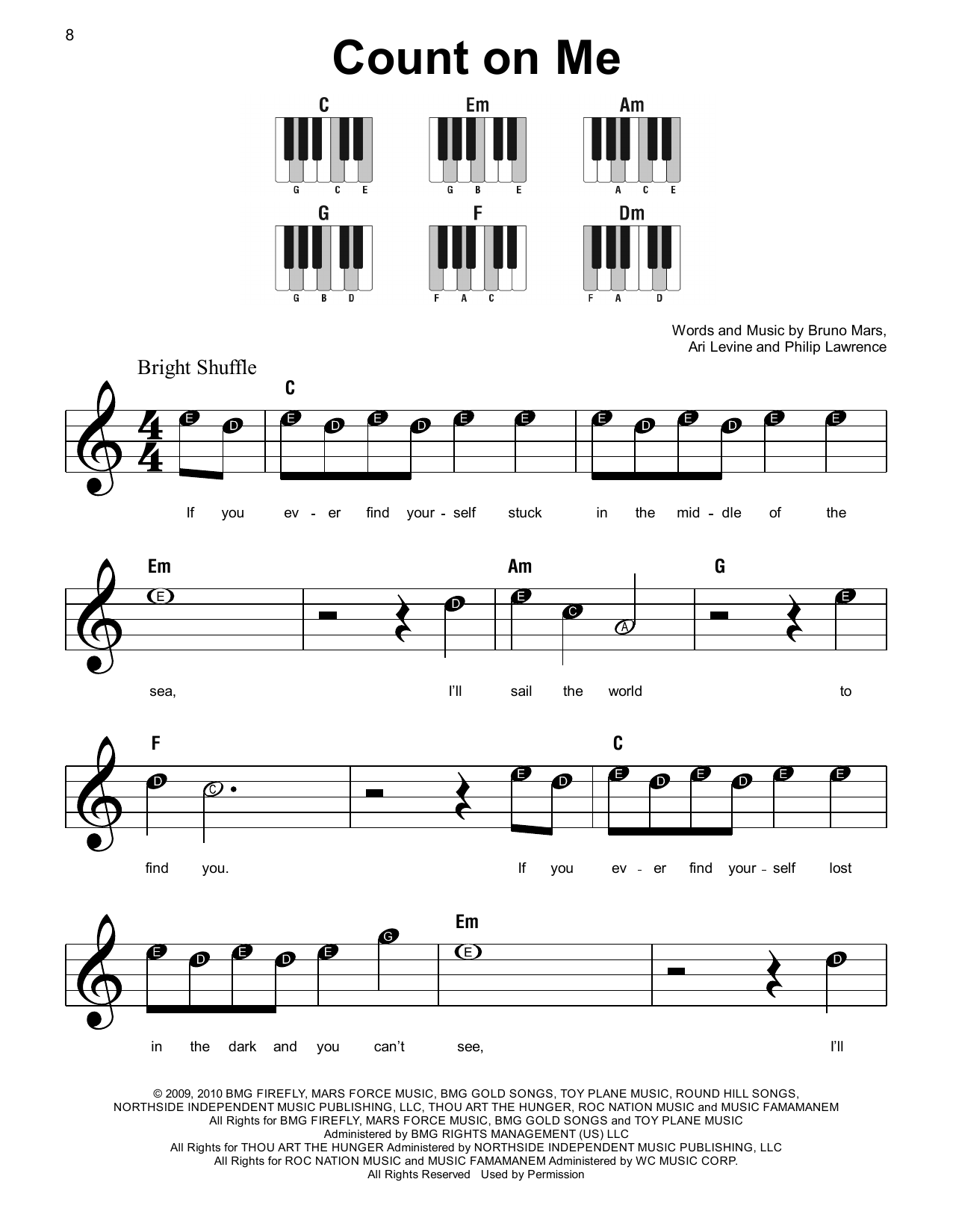 Count On Me (Super Easy Piano)