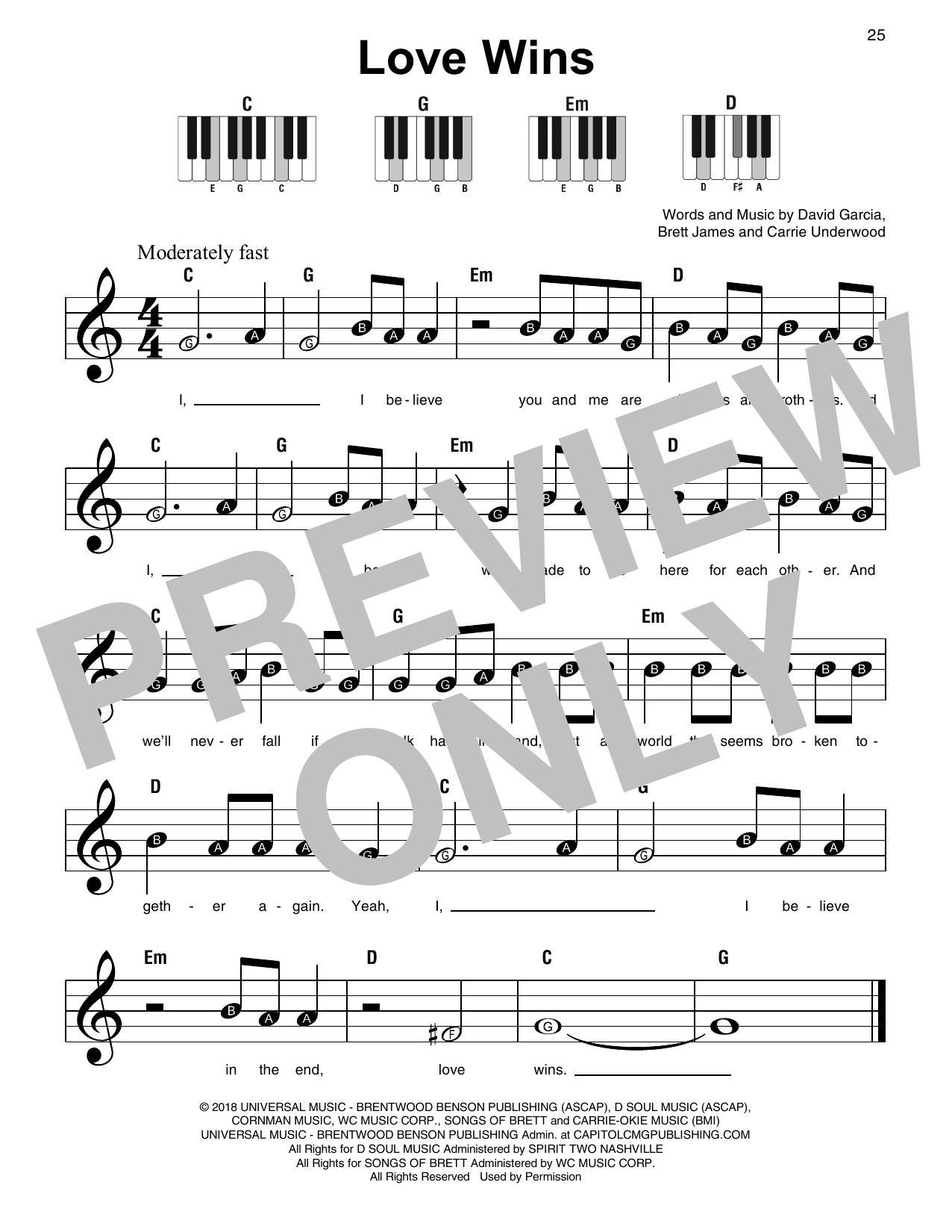Love Wins (Super Easy Piano)