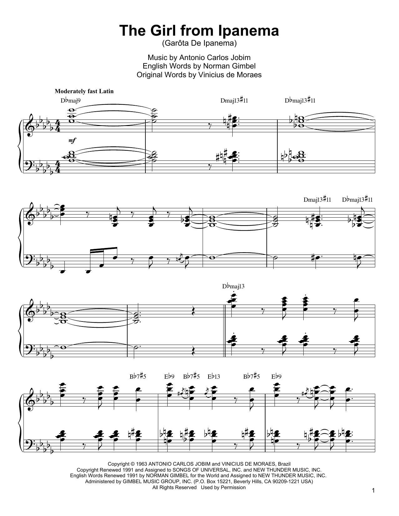 The Girl From Ipanema (Garota De Ipanema) Sheet Music