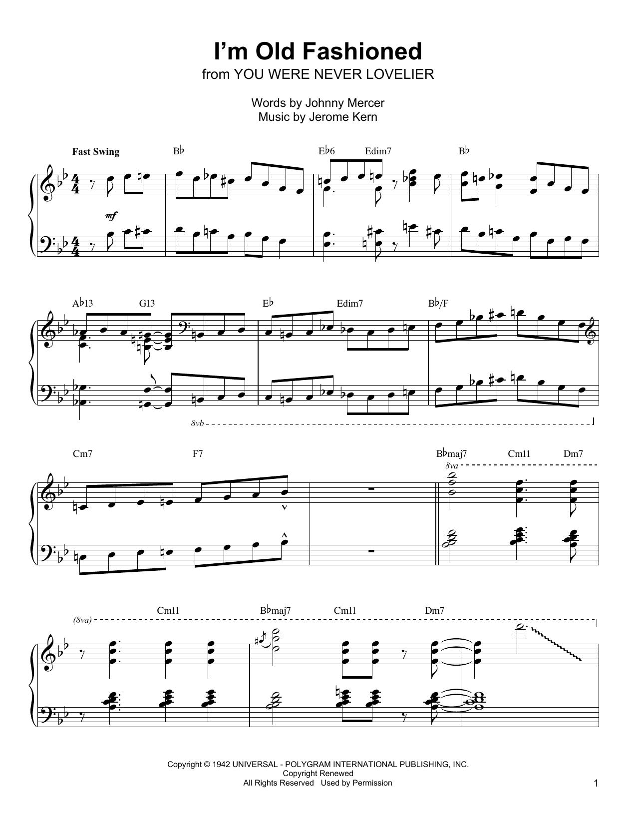 I'm Old Fashioned (Piano Transcription)