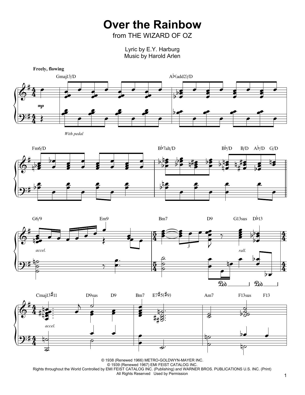Over The Rainbow (Piano Transcription)