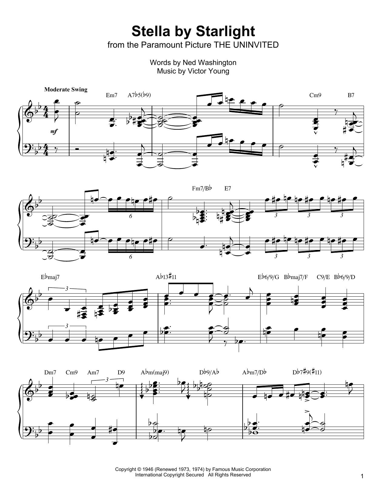 Stella By Starlight Sheet Music
