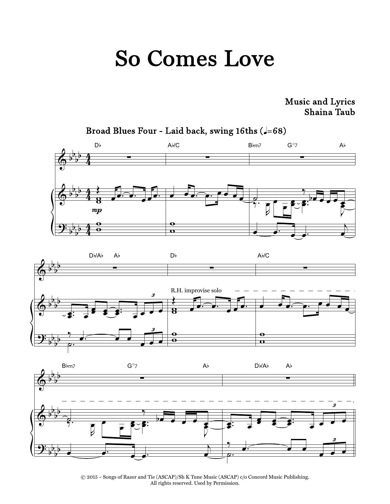 So Comes Love Sheet Music