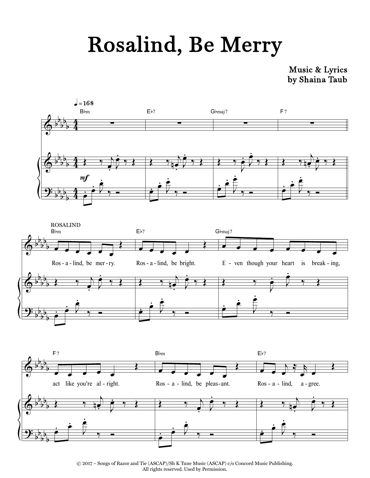 Rosalind, Be Merry (from As You Like It) Sheet Music