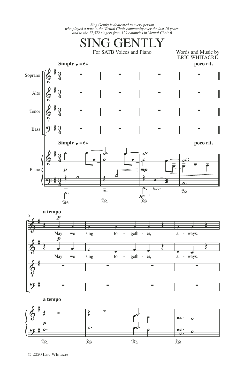 Sing Gently Sheet Music