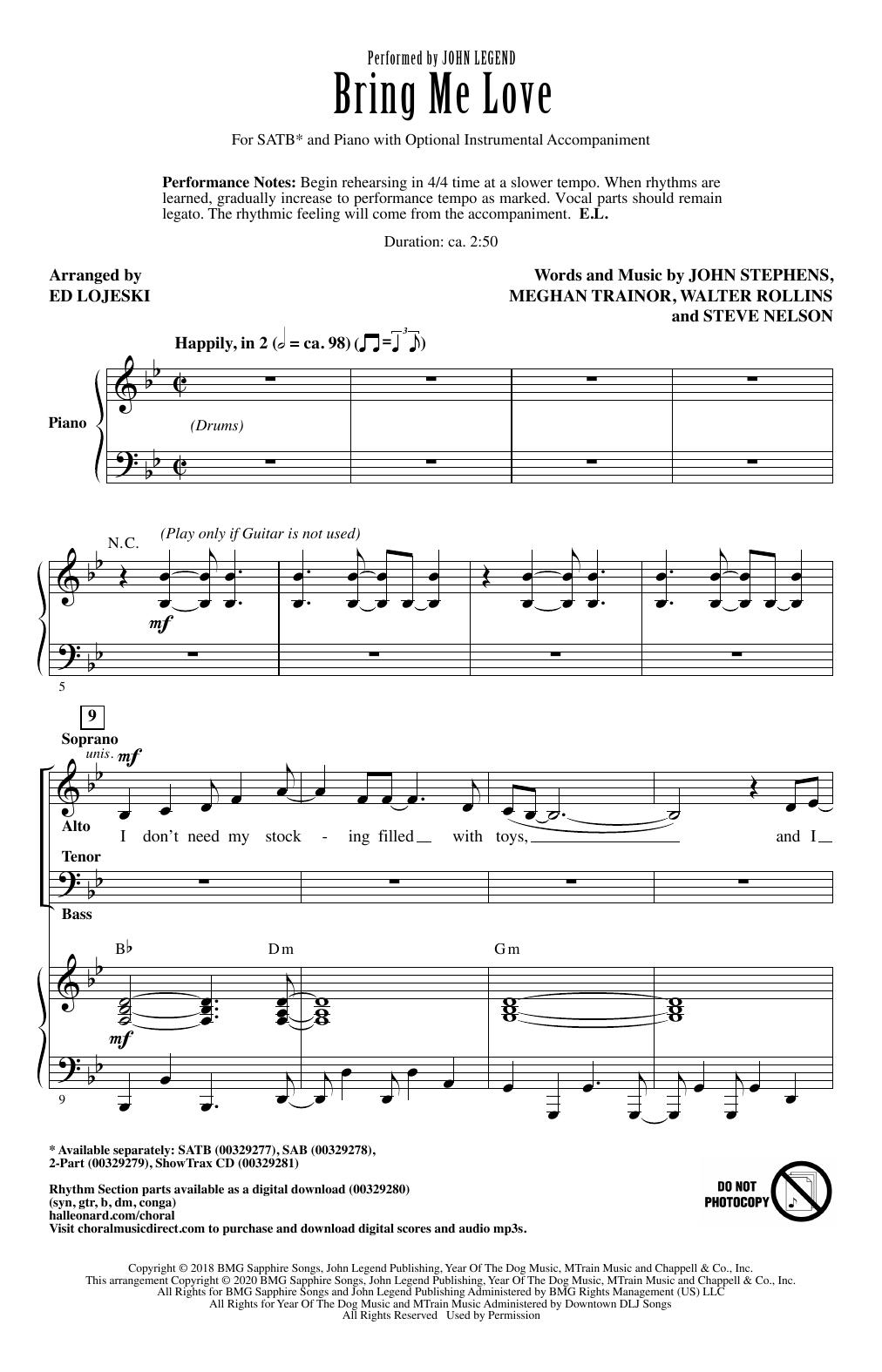 Bring Me Love (arr. Ed Lojeski) Digitale Noten