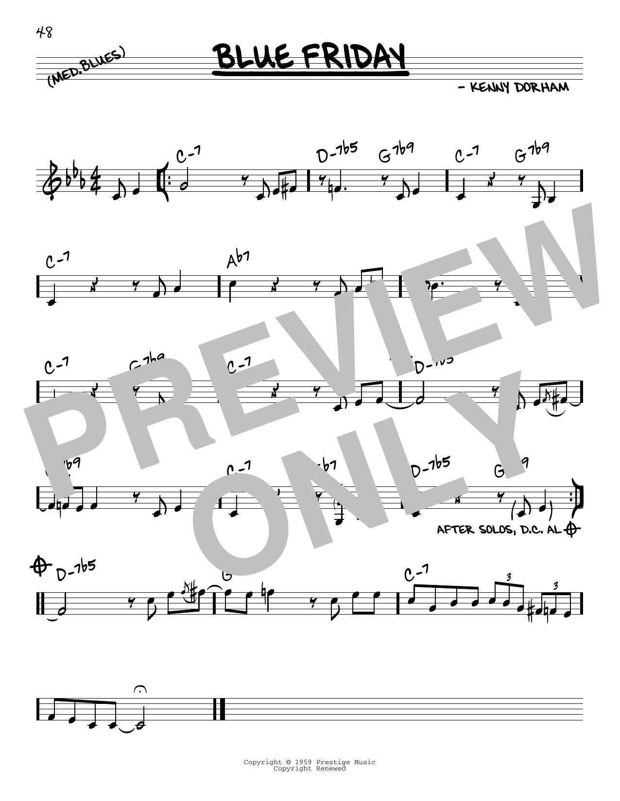 Blue Friday Sheet Music