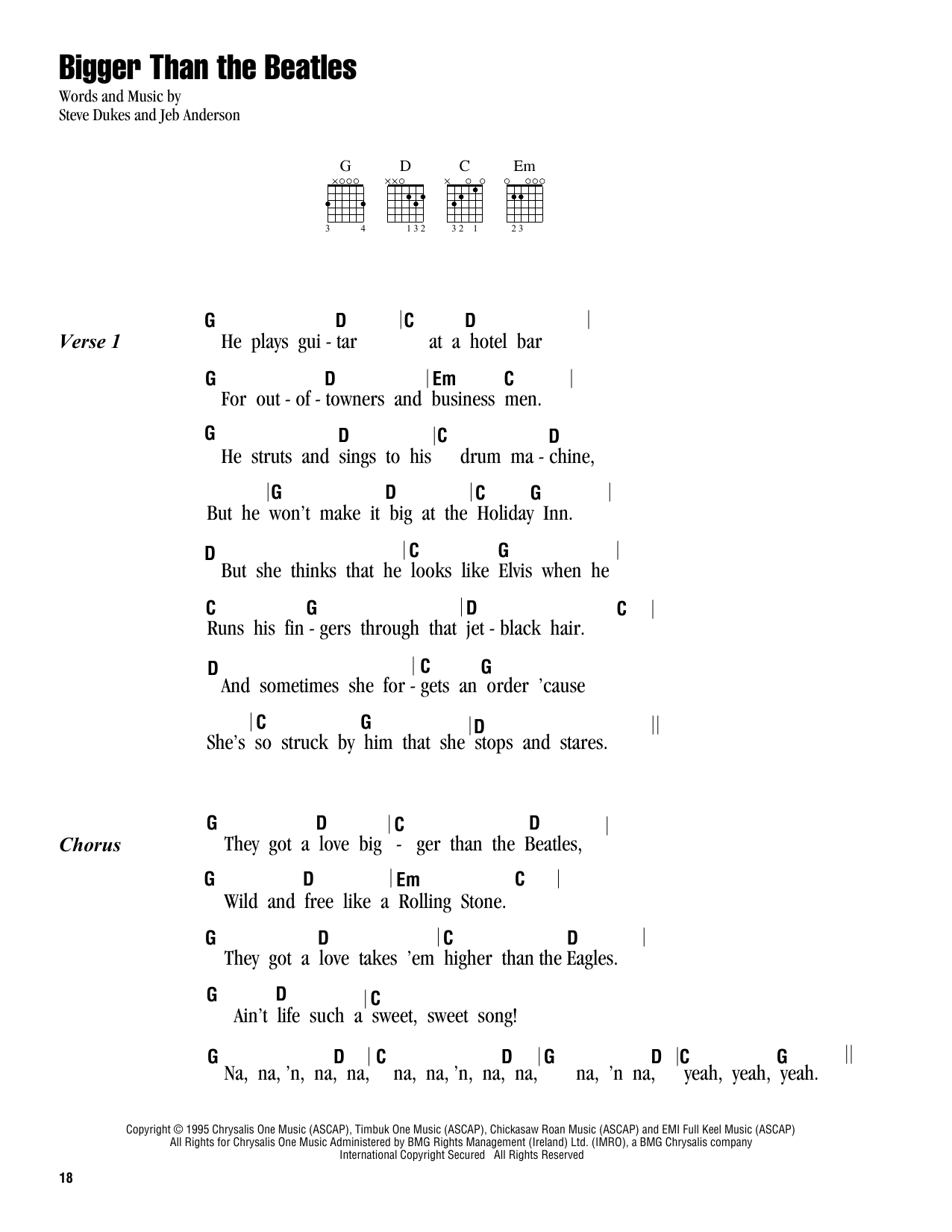 Bigger than the beatles sheet music by steve dukes lyrics bigger than the beatles sheet music hexwebz Images
