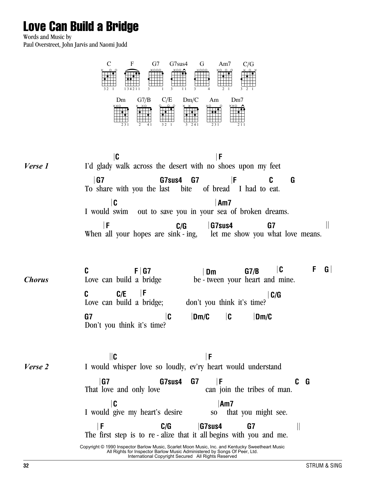 Love Can Build A Bridge Sheet Music