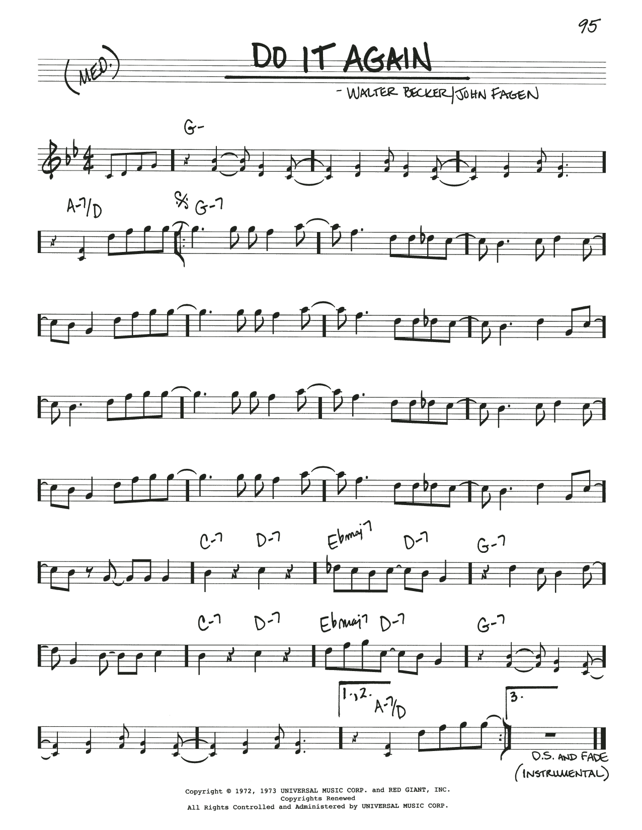 Do It Again Sheet Music   Steely Dan   Real Book – Melody & Chords
